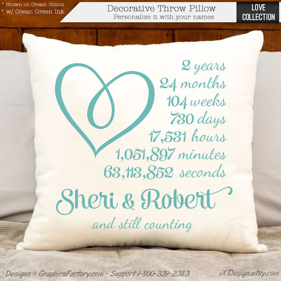 2nd Wedding Anniversary Gifts Cotton For Her : Custom PrintsWedding GiftsGransparent GiftsHousewarming Gifts ...