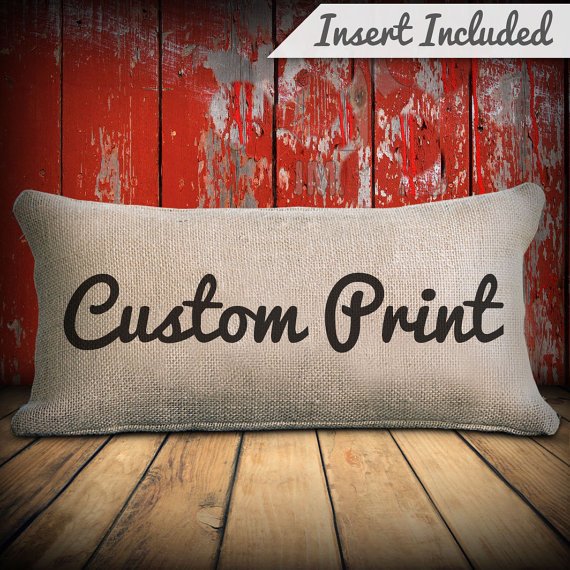 Custom size pillow - home decor