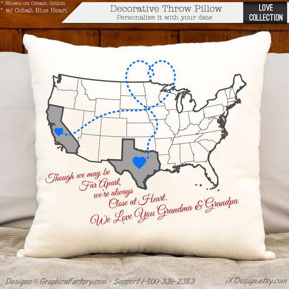 Personalized Pillows - Custom Burlap, Cotton, Linen Pillows